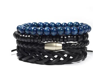 Blue Atish 4 Pack Bracelet Set