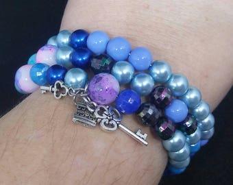 Lock and Key Bracelet, Key Bracelet, Lock Bracelet, Memory Wire Bracelet, Skelton Key Bracelet, Lock, Key, Key Jewelry, Lock Jewelry