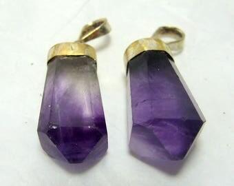 2 Pieces Fluorite Pendants , Fluorite Necklace , Fluorite Jewellry Size Size 27*7mm