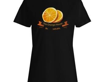 INNOGLEN Orange House Local Organic Fruit Best In Town Ladies T-shirt c831f