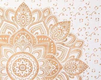 gold lotus chakra mandala wall hanging