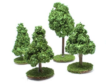 Dungeons and Dragons bundle of four terrain miniature tree DnD board accessories dungeon masters pathfinder tree bundle of four