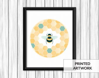 Bumblebee Honeycomb Print
