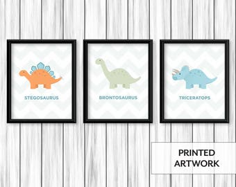 Nursery Dinosaur Prints | Set of 3