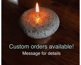 Custom rock candles, rock oil lamp, rock decor * FREE SHIPPING*