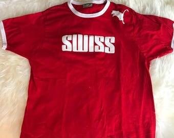 Swiss ringer T shirt
