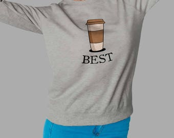 BFF Coffee Bread Sweatshirt, Funny Best Friends Shirt BFF Couples Gift for Friend Womens Girl #J