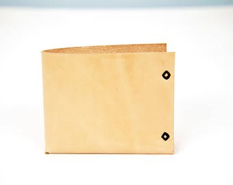 Tan-Minimal one piece bifold