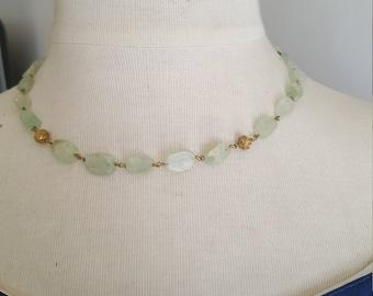 fluorite 49.5 cm necklace