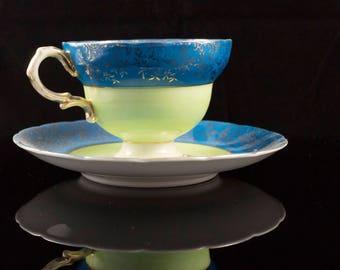 SAJI Fancy China Teacup and Saucer