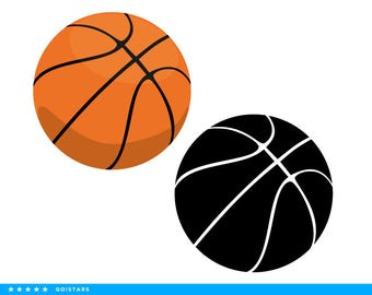Basketball ball clipart and silhouette – Basketball ball svg file – raster and vector files – svg, pdf, png, dxf, eps.