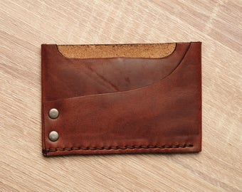 Mens Wallet / Front Pocket / Leather Wallet / Horween Leather / Thomspon Brown / Cyber Monday / Stocking Stuffer