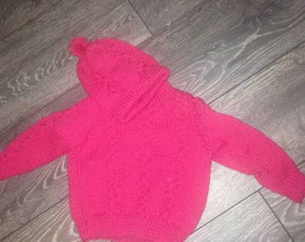 Baby boy sweater with hat