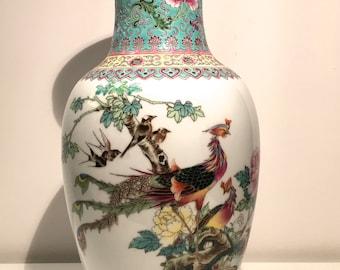 Chinese Vase Phoenix and birds