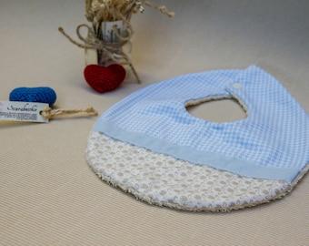 Newborn baby bib made by hand