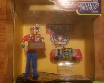 1995 Jeff Gordon winners circle figurine and car