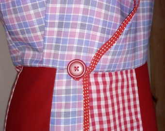 RETRO 1940s Style APRON made From Recycled Men's SHIRTS!