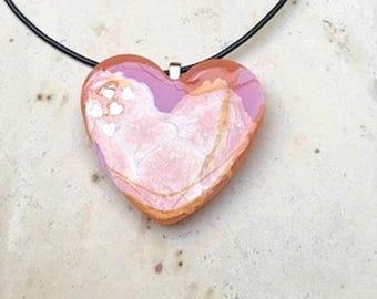 Orange Swirl Heart
