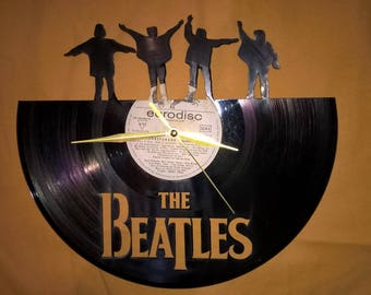 The Beatles Vinyl Record Wall Clock Decorate your home with Modern Large upcycled 12''