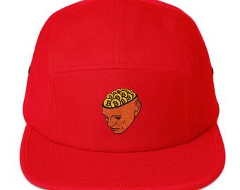 Bitcoin Head Five Panel Cap