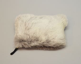 Real fur storage pouch