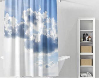 Spring Clouds Shower Curtain