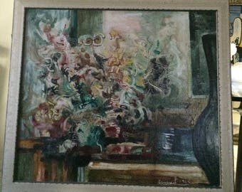 Domingo Ravenet (Cuba, 1905 - 1965) Oil on Canvas - Florero