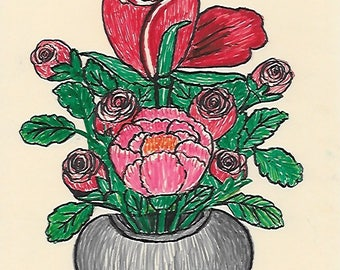 Vase and Rose