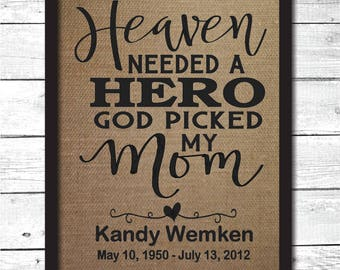 mother memorial print, memorial gift, in memory gifts, in memory of, mom memorial, in memory of mom, sympathy gift, memorial print, M11