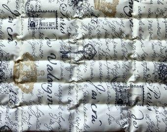 Lavender Flaxseed Heat Pack - Cream Parisien Print