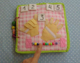 Quiet game,Hands (velcro),  Game numbers, Learning numbers, Gift for Kid, game for ages 3-6
