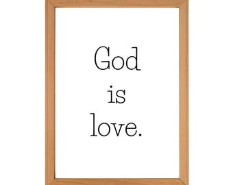 God is Love - Downloadable Print