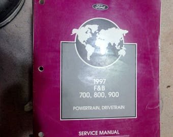 1997 dealers service manual- F & B 700, 800, 900 powertrain and drivetrain