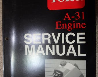 Toro A-31 engine service manual