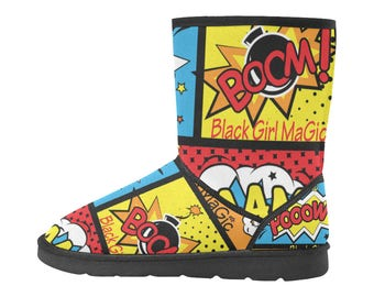Black Girl Magic Custom High Top Snow Boots