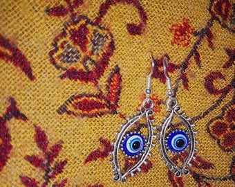 All seeing eye Tibetan charm earrings