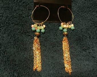 Gold Tassel Drop  Earrings
