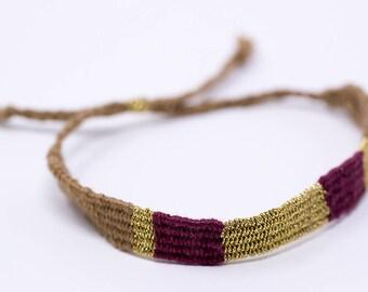 Golden beige Burgundy bracelet
