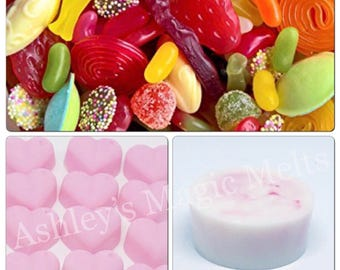 5 Sweet shop wax melts, bakery wax melts, sweet wax melts, wax cubes, wax tart melts, cheap wax melts, strong wax melts, best wax melts
