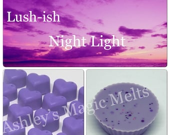 3 twilight lush soy wax melts, strong melts, long lasting melts, designer perfume melts, wax melt tarts