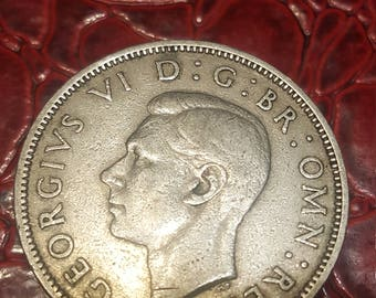 Great Britain florin two shillings 1948 George V silver