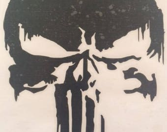 PUNISHER window decal, window decal, punisher, skull decal
