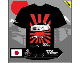 T-shirt Nissan Skyline GT-R Nismo R-Tune BNR34