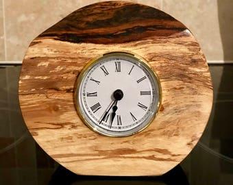 Handmade Burr Ash Clock