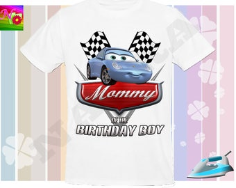 Mommy, Cars Iron On Transfer, Iron On Cars Birthday Shirt, Cars Birtday Mommy Iron On , Cars Instant Download