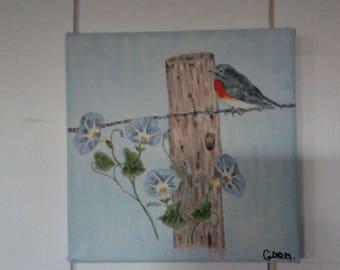 Robin painting
