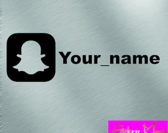 Snapchat nickname decal sticker 15 cm