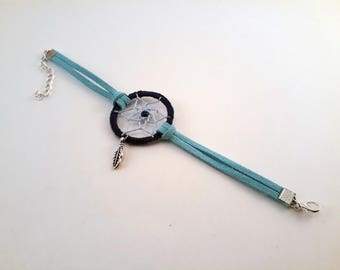 Blue dream catcher bracelet