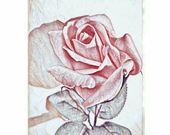 Digital Painting/Abstract Painting/SWEET ROSE/Digital Print/Instant digital download