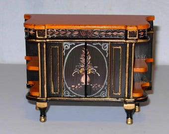 CHIN0ISERIE CHEST hand painted dollhouse furniture